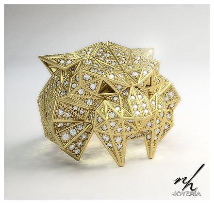 Saber Facet - Gold Pavé  14 y 18k