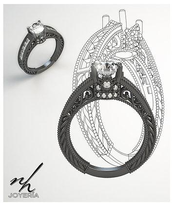 Black Vintage- Zircón