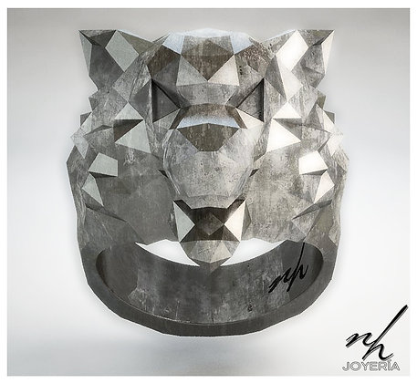 Wolf Facet .925 - Aged, Black Rhodium, Dorado o Natural