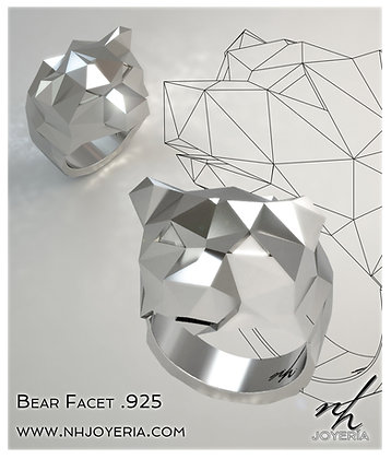 Bear Facet .925 Natural