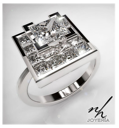 Princess Cut - 14k