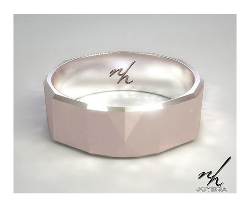 Wedds Facet - Pink gold 14k, 6mm