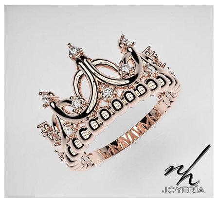 Corona Reina Regente 14k