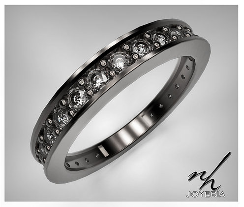 Churumbela recta 14k -Black Rhodium