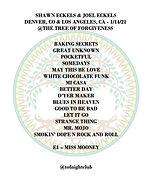 01-14-21 Shawn and Joel Eckels Setlist.j