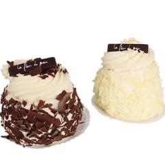 Merveilleux chocolat/chocolat blanc