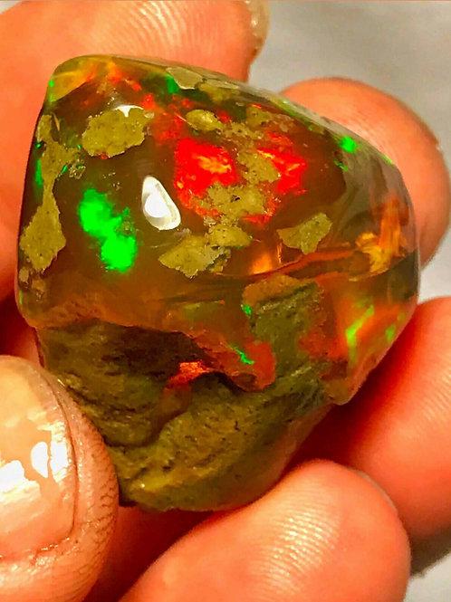 155 Cts Natural HUGE Chocolate Ethiopian Welo Crystal Opal Specimen