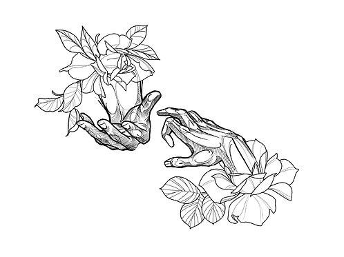 Floral Hands - tattoo deposit