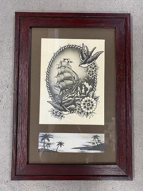 Stormy Sea - Framed Original