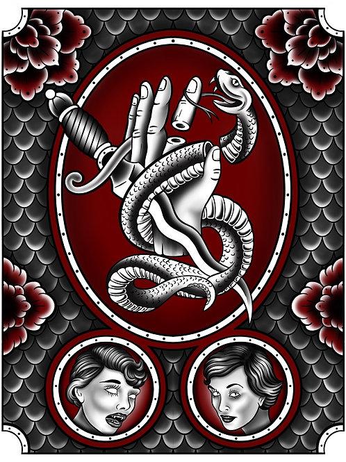 Prints by Chris | dagger snake hand