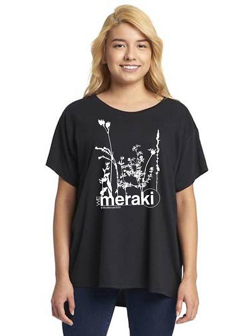 ladies WeMeraki weeds ideal flow t-shirt - black