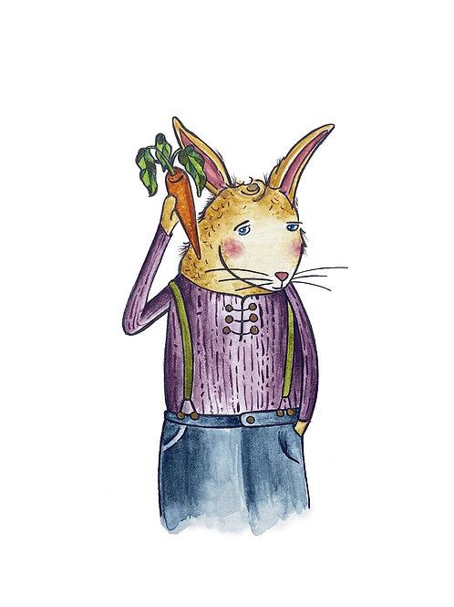Home Bunny | watercolor animals