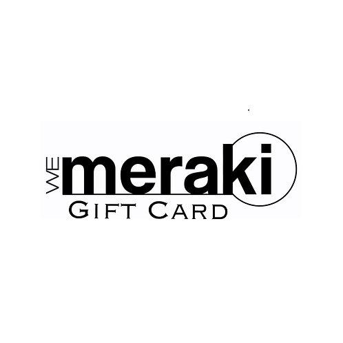 WeMeraki Gift Card