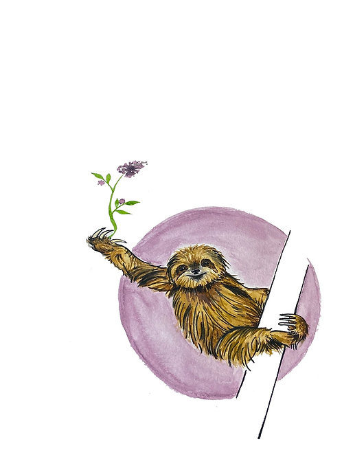 Sloth Guy | watercolor animals
