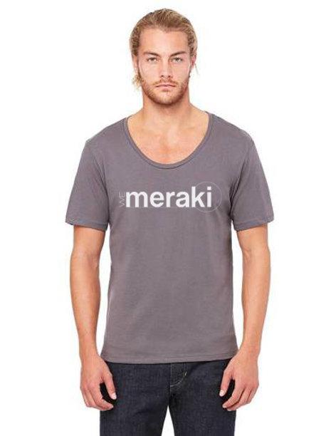 mens WeMeraki jersy wide neck t-shirt - Asphalt