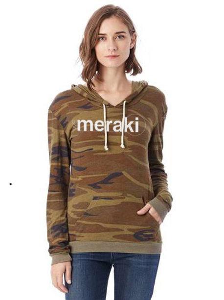 ladies WeMeraki pullover hoodie - Camo