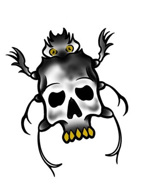 Spider Skull - tattoo deposit