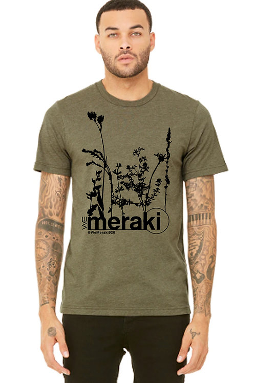 unisex WeMeraki weeds short sleeve t-shirt - military green