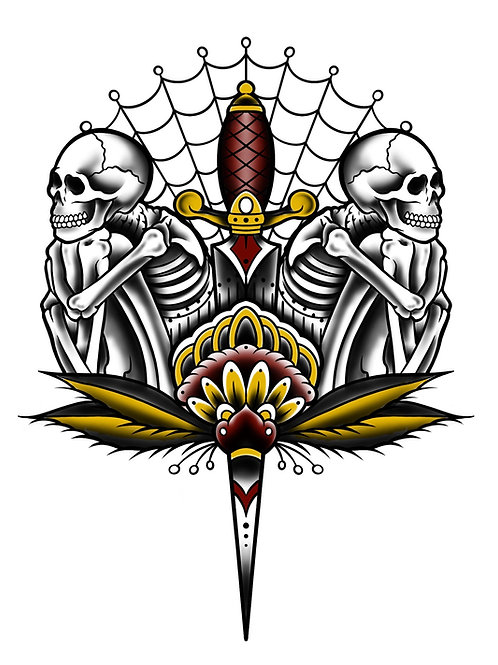 Skully Dagger - tattoo deposit