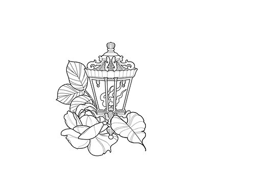 Floral Lantern - tattoo deposit
