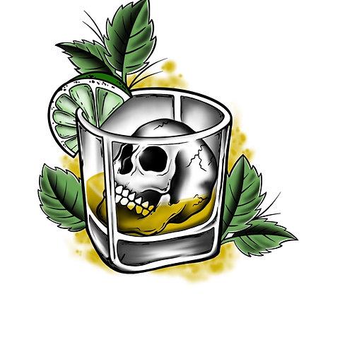 Skull Whiskey Mojito - tattoo deposit