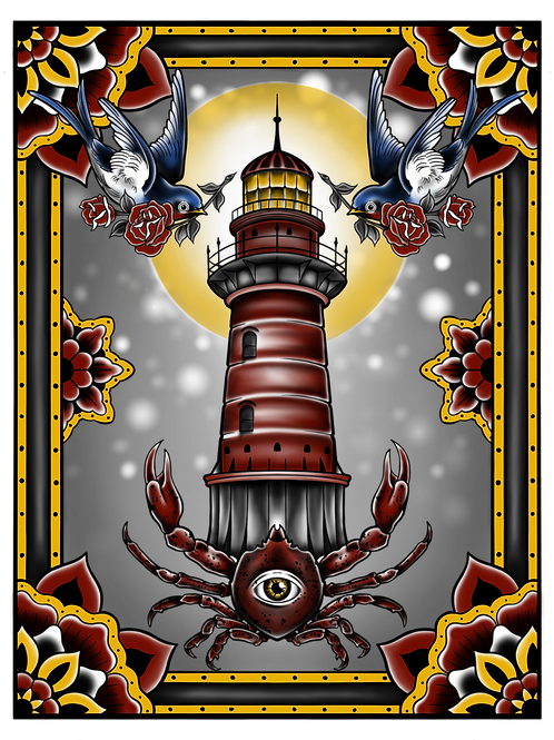 Prints by Chris | crabby lighthouse
