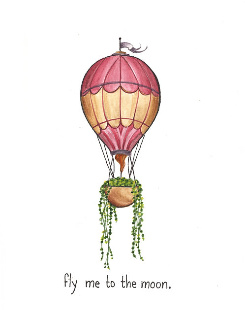 Fly me to the Moon - tattoo deposit