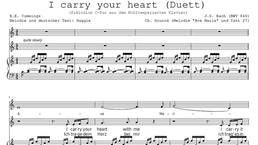 I carry your heart with me - duet