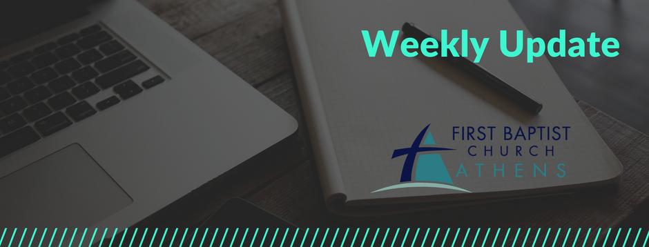 Weekly Update 8.18.20