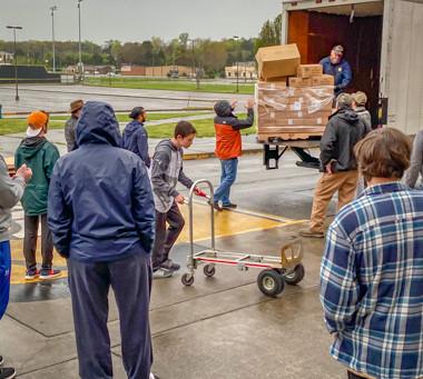 Distributing Food