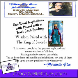 One Word Inspirations Paired with One Card Tarot -Wisdom and The King of Swords