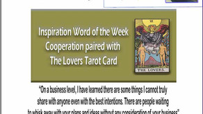 One Word Inspirations – Cooperation Paired with The Lovers Tarot Card