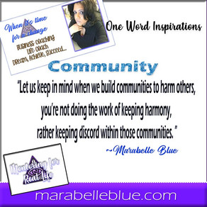 One Word Inspirations - Community