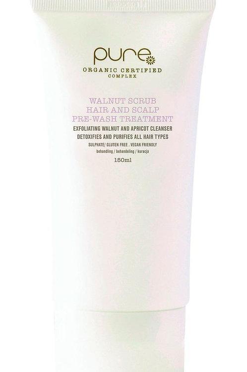 Walnut scrub hair and scalp pre wash treatment