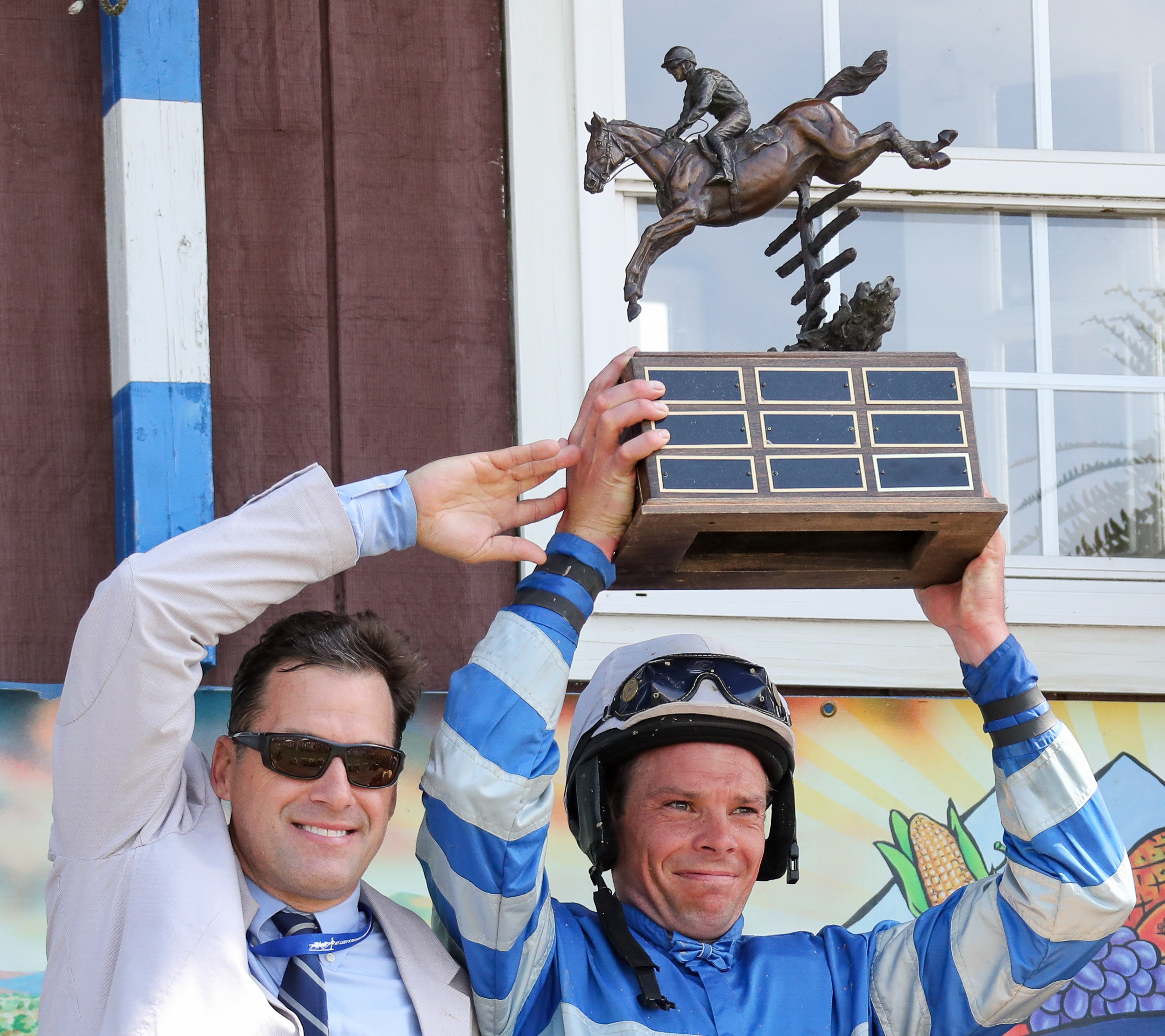2019 Manor Racer winning trainer, Todd McKenna and Jockey, Mark Beecher