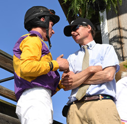 Jockey Eric Poretz and Trainer Todd Wyatt
