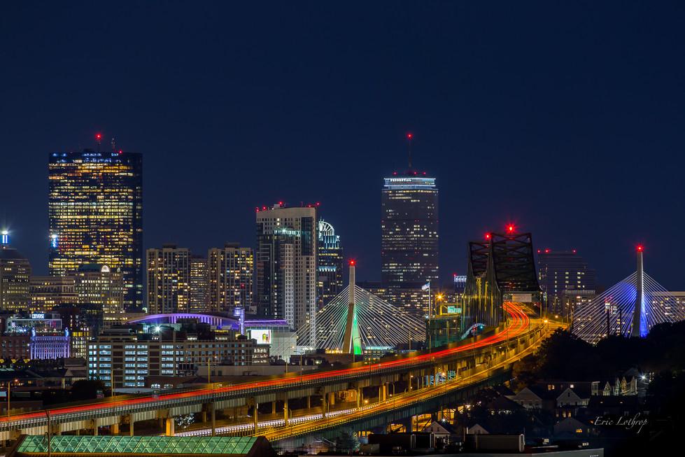 Boston Skyline from Malone Park