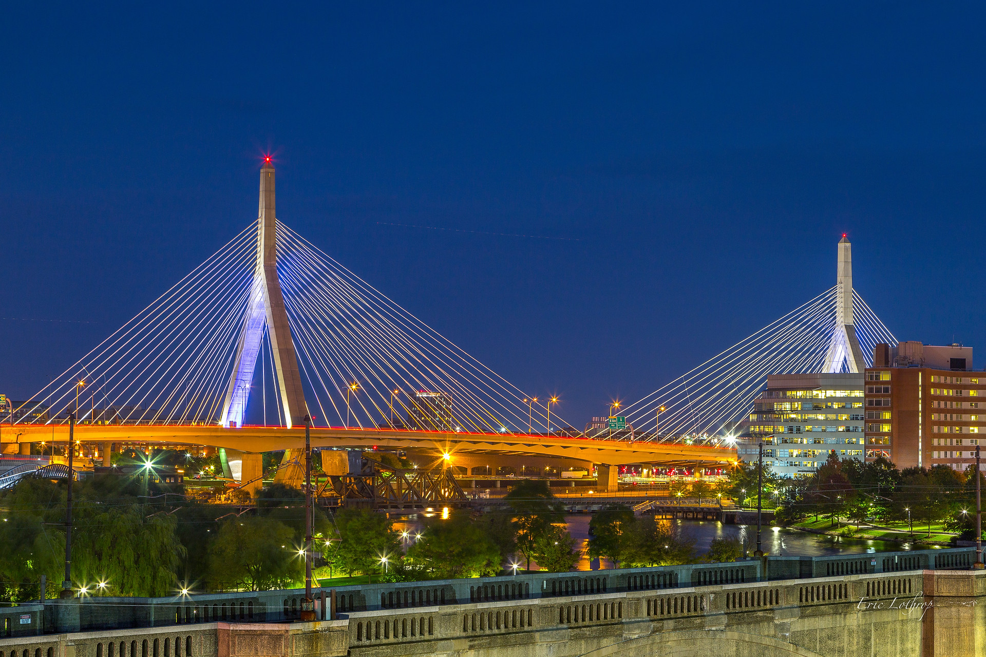 Zakim Bridge from the Museum Of Science