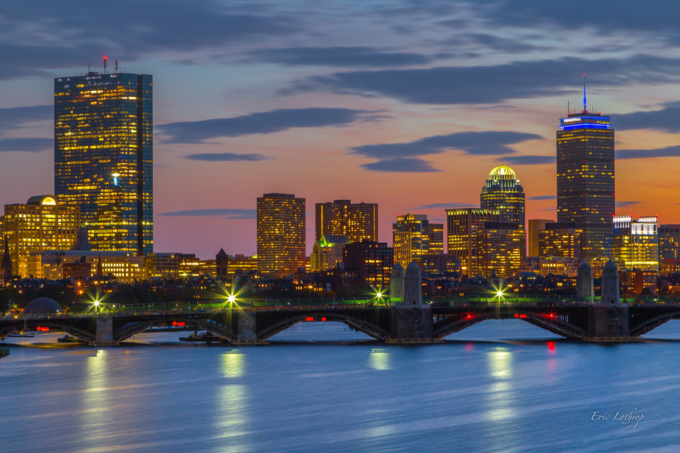 Boston Skyline from the Museum of Science