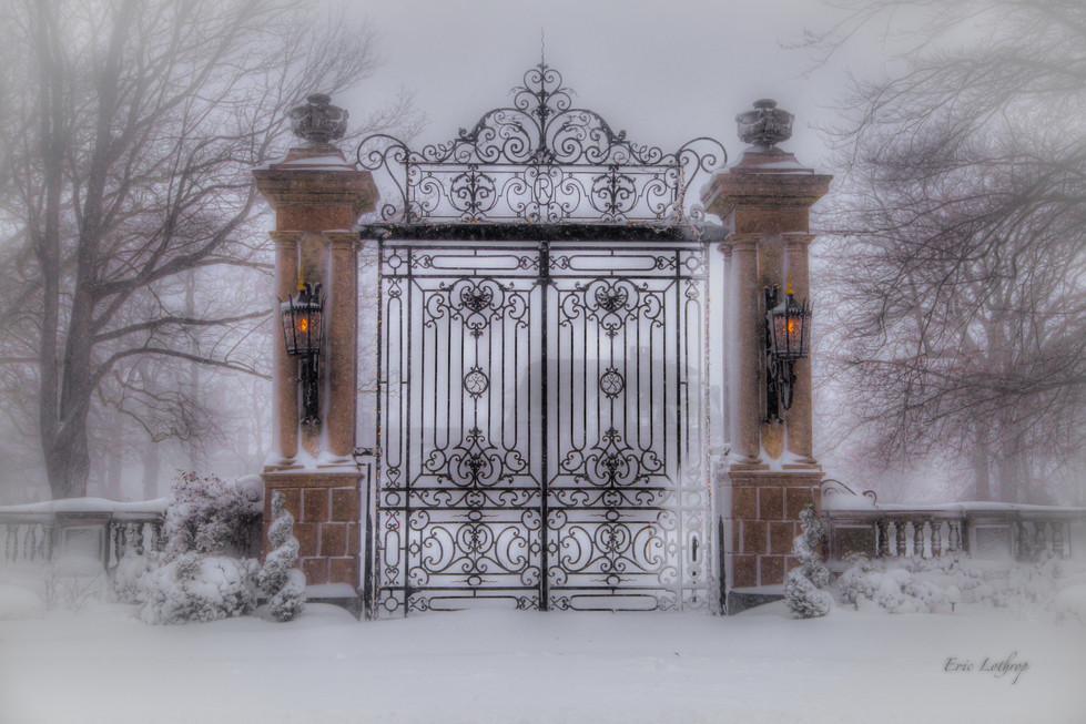 Newport Mansion Roseclif Gate  at Bellevue Avenue