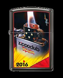 2016 Zippo Club Spain 1st stamped design