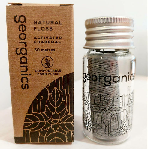Georganics Natural Floss - Activated Charcoal