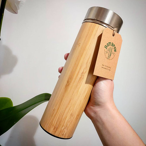 Bamboo and Stainless Steel Infuser Flask