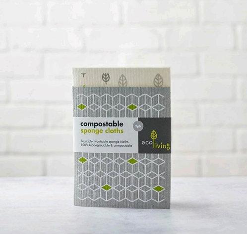 Compostable Sponge Cloths 2 pack