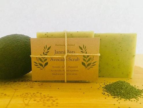 Avocado Soap Scrub by Janni Bars