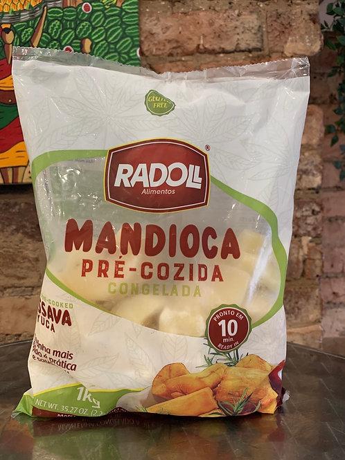 Mandioca pré-cozida Congelada 1kg