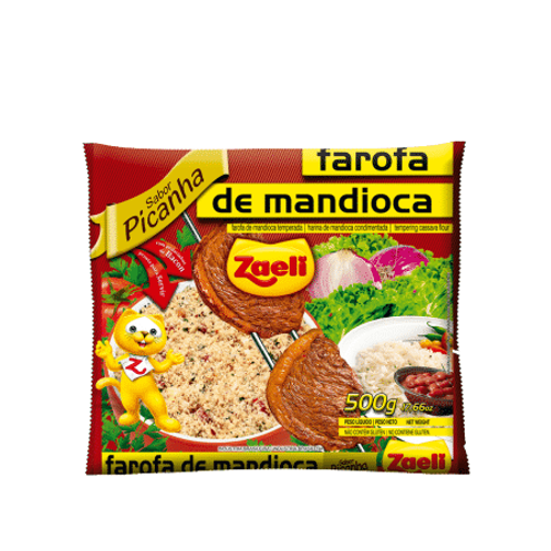 Farofa Mandioca Sabor Picanha Zaeli 500g