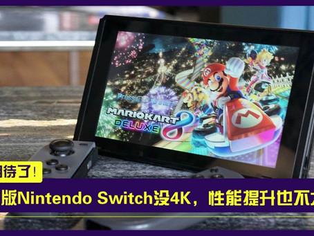 白兴奋了...最新报道显示:全新Switch掌机不支持4K,性能提升幅度温和!