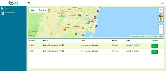 Sound and Map Alert Web portal