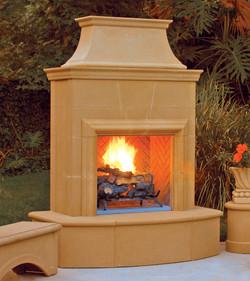Petite Cordova Fireplace